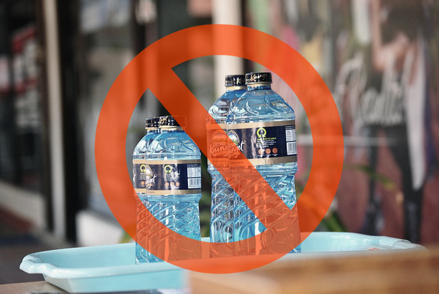 A weird company rule which doesn't allow workers to have water bottles during work