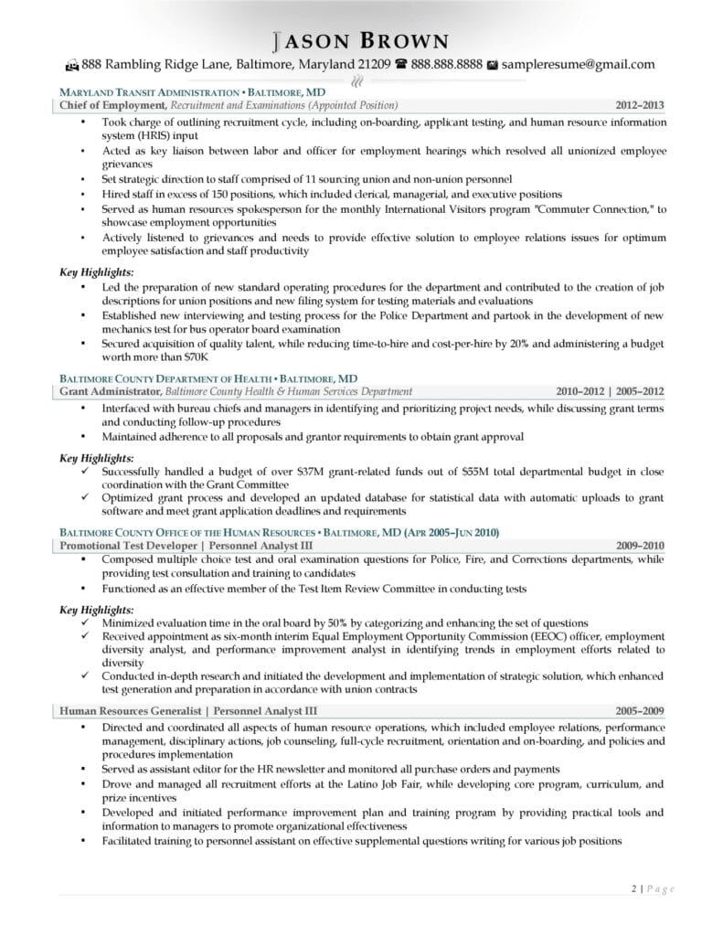 Human Resource Director Resume Examples Page 02
